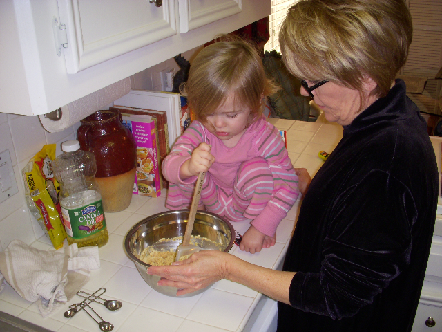 Making cookies with Mimi