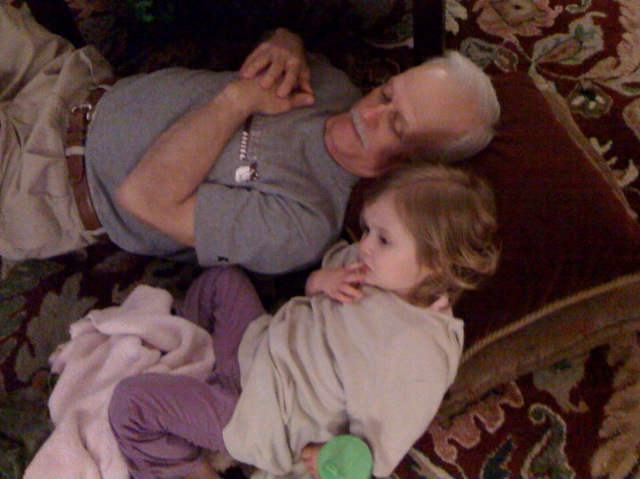 Pappy and Ella: Hanging out