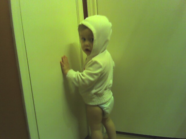 Hoodie and a diaper