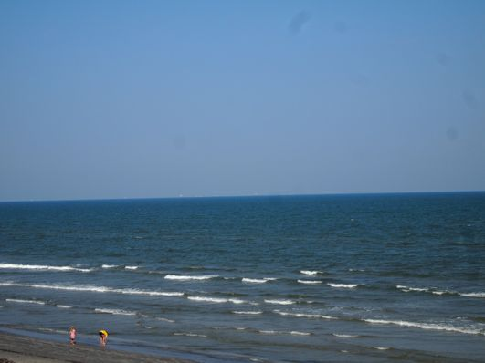 We had unusually blue Galveston water